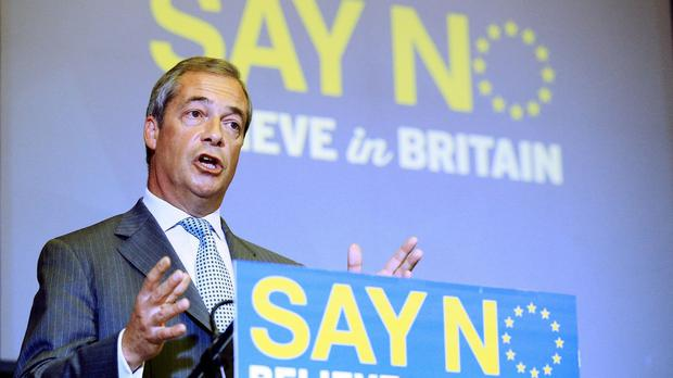 Nigel Farage said Ukip will make immigration a central focus of its No campaign