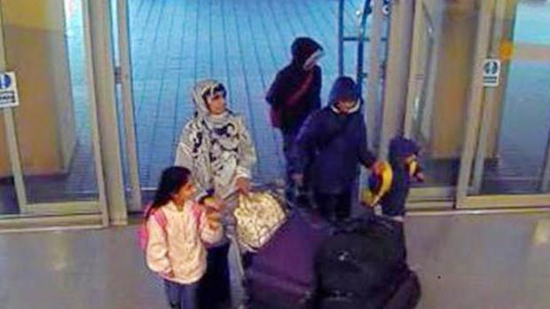Zahera Tafiq and her children were thought to be heading to Syria