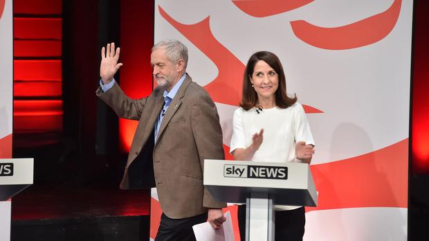 Labour leadership contenders Jeremy Corbyn and Liz Kendall clashed during the debate