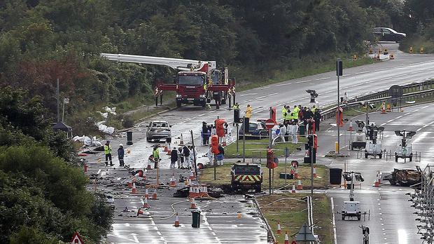 Eleven people died on the A27 at Shoreham following the air disaster