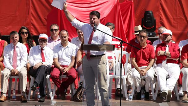 Chief Minister Fabian Picardo gives a speech to celebrate national day in Gibraltar