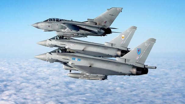 RAF jets were scrambled to intercept the Russian planes (MoD/file)