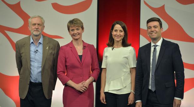 Labour leadership contenders from left Jeremy Corbyn, Yvette Cooper, Liz Kendall and Andy Burnham