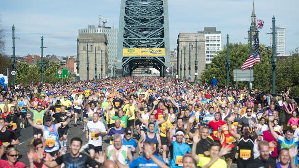Runners taking part in the Great North Run