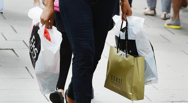 The number of shoppers visiting stores dropped at the steepest rate in nine months in August