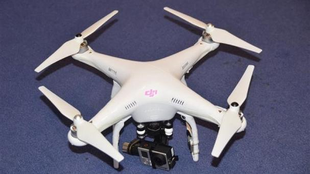 The drone flown illegally by Nigel Wilson