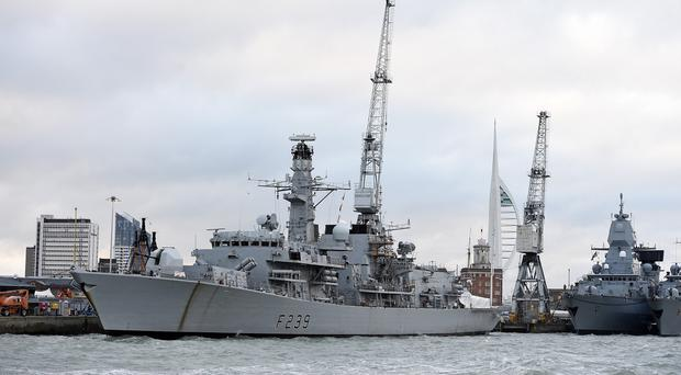 HMS Richmond will board and seize vessels in the southern Mediterranean, the MoD said