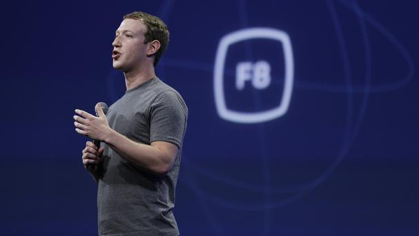 Mark Zuckerberg said a way for users of Facebook to show empathy is due to be tested soon (AP)