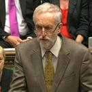 Jeremy Corbyn speaks during his first Prime Minister's Questions as Labour leader