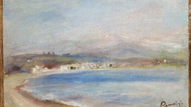 The painting by Pierre-Auguste Renoir titled The Coast of Cagnes.