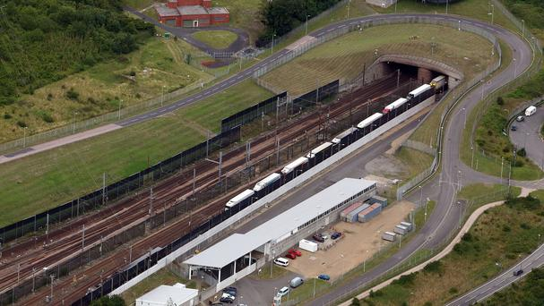A migrant has died near the entrance to the Channel Tunnel in France