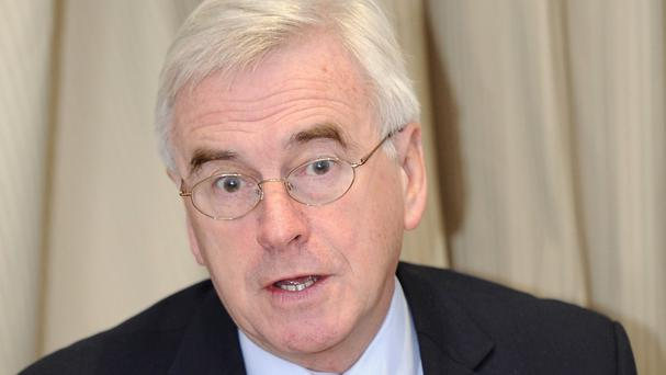John McDonnell called for the introduction of a new 'national bank'