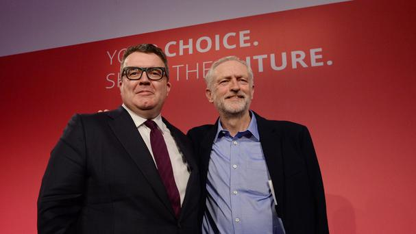 Deputy Labour leader Tom Watson with party leader Jeremy Corbyn