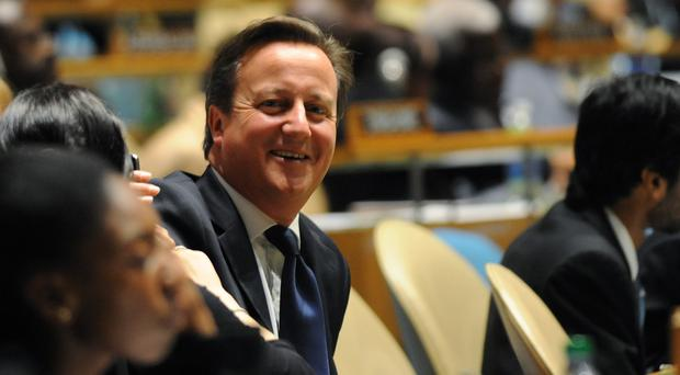 David Cameron at the United Nations in New York