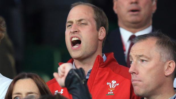 The Duke of Cambridge will watch Wales play Fiji at Cardiff's Millennium Stadium
