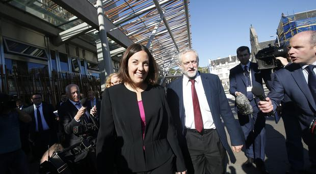 Scottish Labour leader Kezia Dugdale and Scottish Labour leader Kezia Dugdale arrive at the Scottish Parliament building in Edinburgh