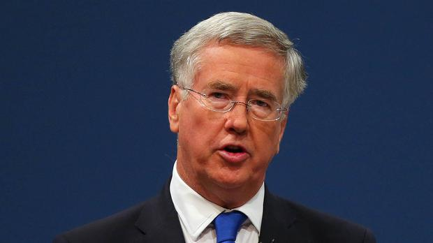 Michael Fallon said Russian airstrikes were targeting the Free Syrian forces fighting President Bashar Assad
