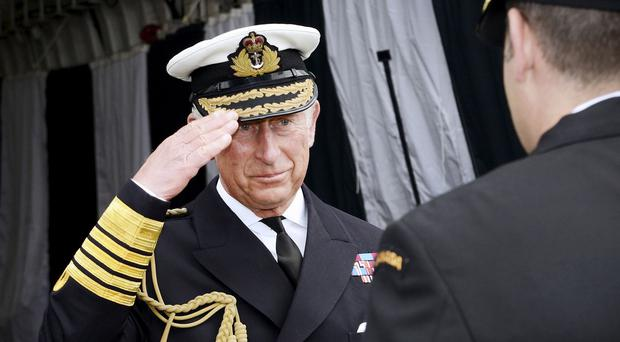 The Prince of Wales meets Canadian Royal Navy captains and crew at the start of a UK-led military exercise off the coast of Scotland (MoD/PA)