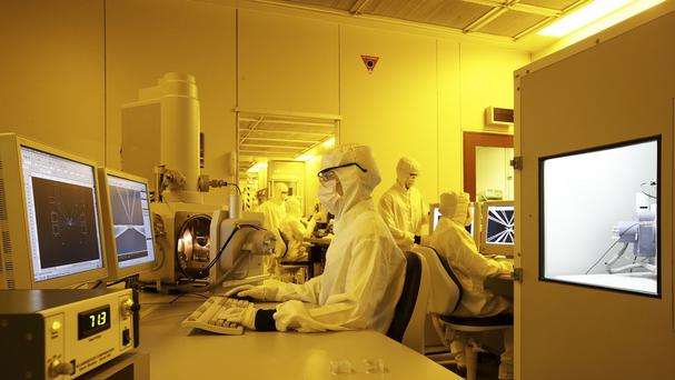 The Australian National Fabrication Facility where scientists developed the world's first two-qubit quantum computer logic gate.