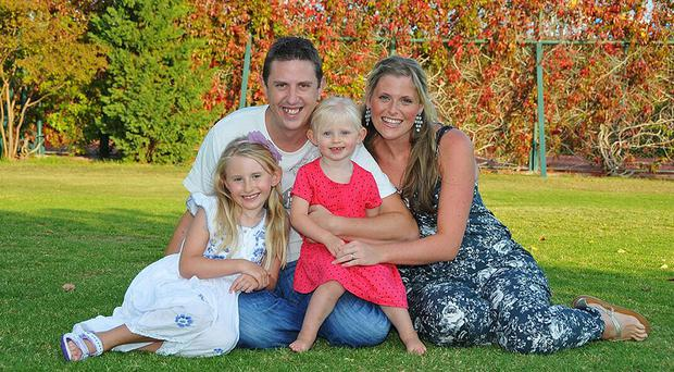 Pc David Phillips, 34, was married to Jen and had two daughters - Abigail, seven, and Sophie, three (Merseyside Police/PA Wire)