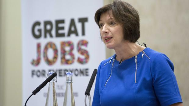 TUC General Secretary Frances O'Grady hailed tax credits, saying the proportion of children in workless households nearly halved since 1996