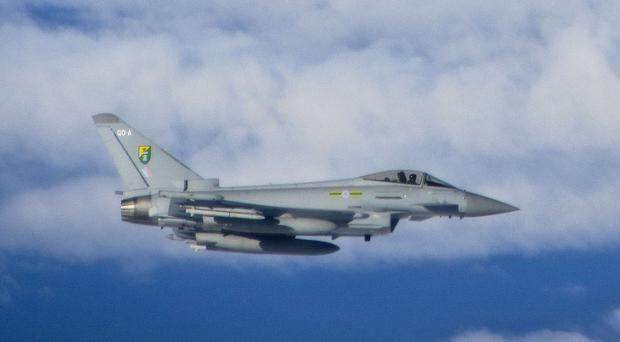 RAF Typhoons are already deployed in the region as part of the Baltic Air Policing detachment. (PA/MoD)
