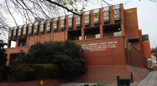 Leeds Crown Court, where three men have gone on trial accused of people trafficking