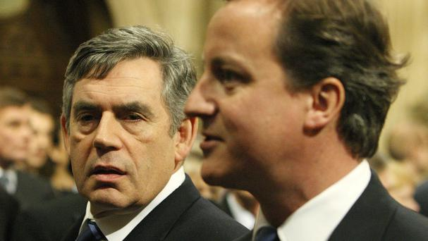 Gordon Brown urged David Cameron to make changes to the Scotland Bill