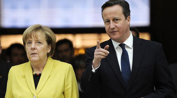David Cameron is to hold talks with German Chancellor Angela Merkel amid growing tensions with Russia over Moscow's military intervention in Syria