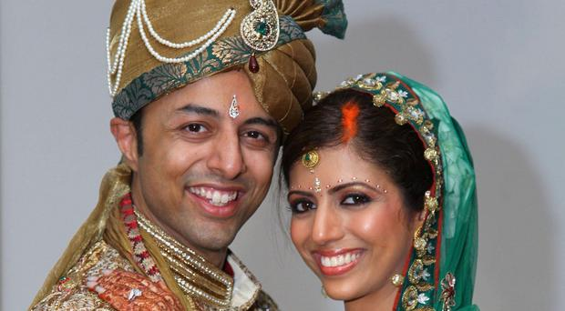 Shrien and Anni Dewani at their wedding (Bristol Evening Post/PA)