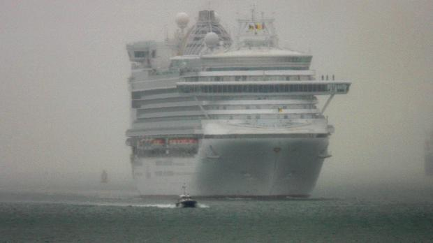 A passenger is reported to have fallen from the cruise ship Ventura off the Isle of Wight