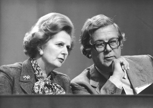 Margaret Thatcher and Geoffrey Howe fell out over European policy