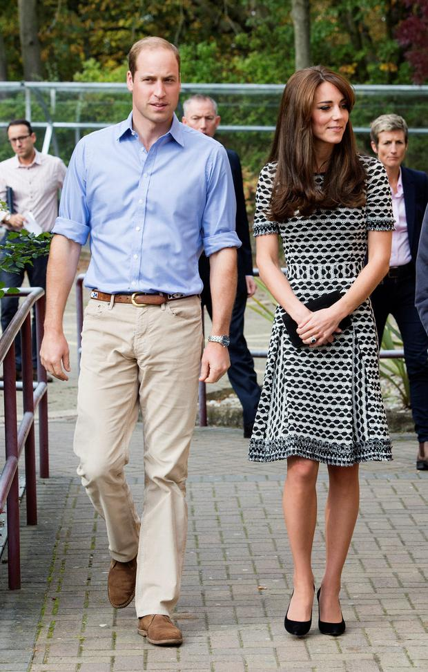 The Duchess of Cambridge with her husband, the Duke of Cambridge
