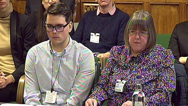 Micheal and Sally Evans give evidence to the Home Affairs Select Committee