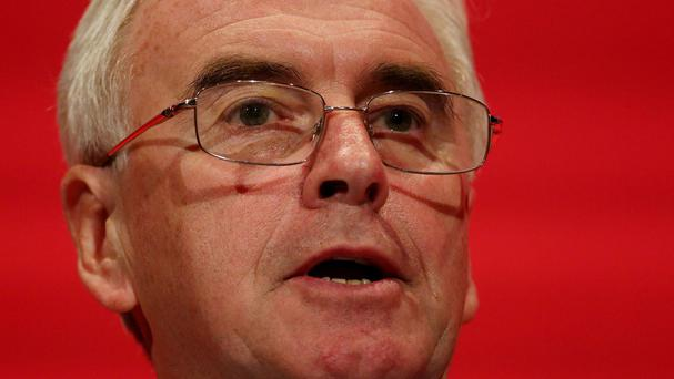 John McDonnell has decided to vote against plans for the Government to run a budget surplus