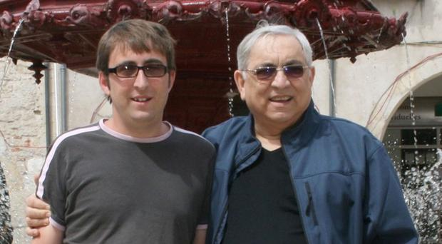 Karl Andree, right, with his son Simon