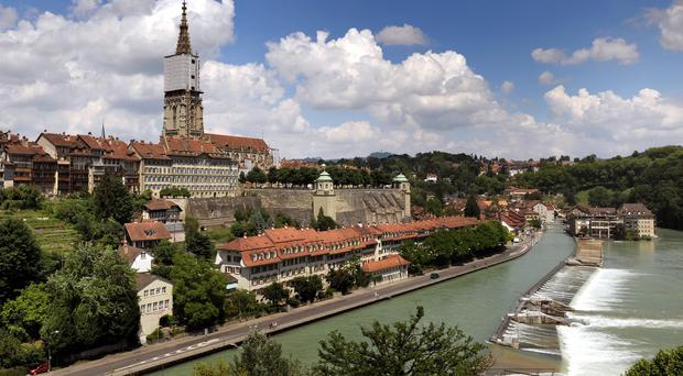 Bern in Switzerland, as a study looked into the country's ability to secure international trade agreements without being in the EU