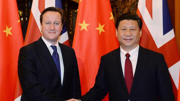 David Cameron said Chinese President Xi Jinping's visit will be a