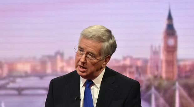 Defence Secretary Michael Fallon appears on The Andrew Marr Show (BBC/PA)
