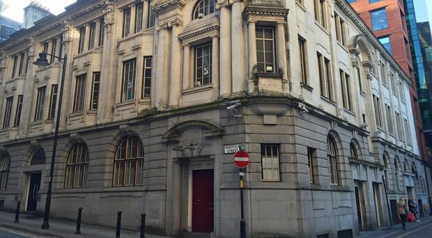 The old Stock Exchange building on Norfolk Street in Manchester