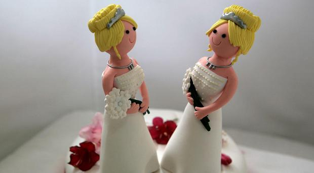 The number of same-sex marriages peaked at 844 in August last year