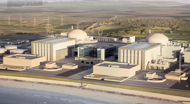 Artist's impressionof how the new Hinkley Point C station will look (EDF/PA)
