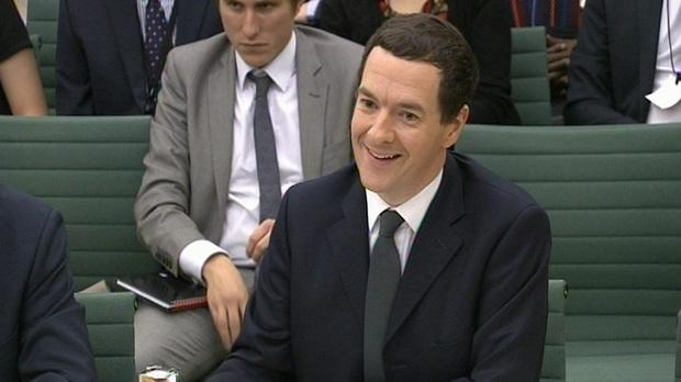 Chancellor George Osborne gives evidence to the Treasury Select Committee at Portcullis House, London