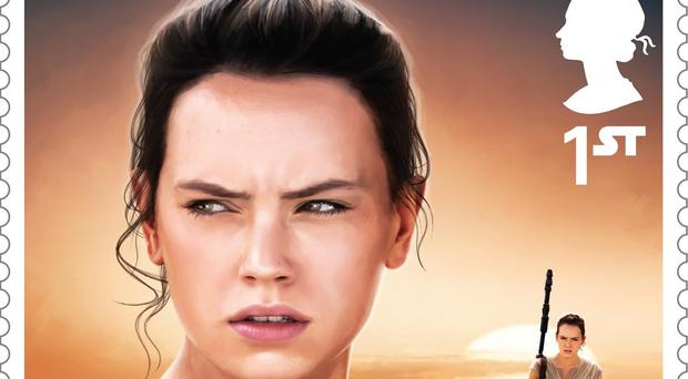 The stamp featuring Rey which is part of a new set celebrating the Star Wars movies (Royal Mail/PA)