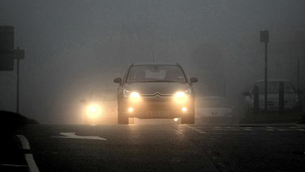 Halfords warned that poor visibility is common on the roads at this time of year