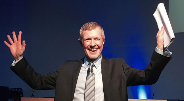 Willie Rennie after speaking at the Scottish Liberal Democrat Conference in Dunfermline