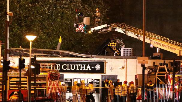 Ten people died when a Police Scotland helicopter crashed through the roof of the Clutha bar in November 2013