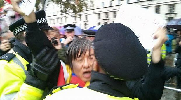 Tiananmen Square survivor Shao Jiang was arrested by police (Tibetan Community UK)