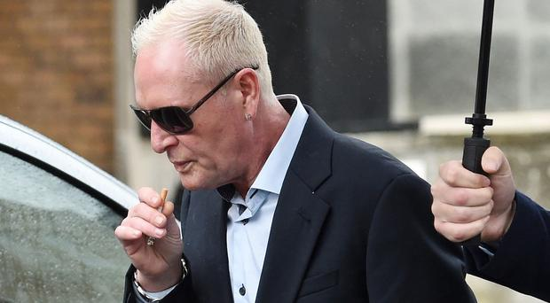 Paul Gascoigne arrives at Bournemouth Magistrates' Court