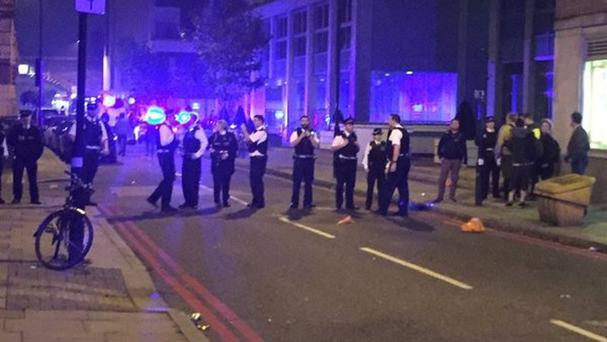 Police blocked Black Prince Road in central London after reports of an illegal rave (Sam Lister/PA)